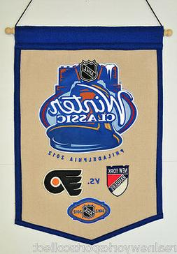 2012 NHL WINTER CLASSIC WOOL BANNER NEW YORK RANGERS PHILADE