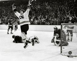 Bobby Clarke GOAL Philadelphia Flyers 1975 Stanley Cup Semif