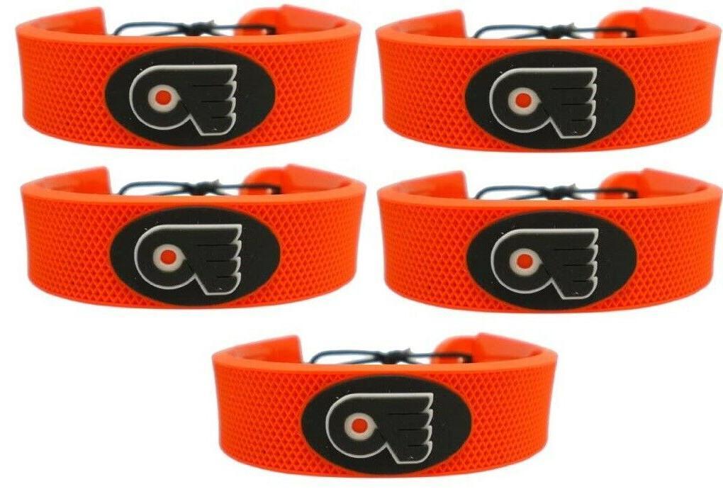 five 5 philadelphia flyers nhl bracelets orange