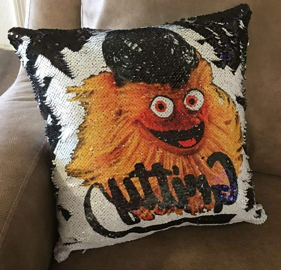 gritty flip sequin 16 throw pillow case