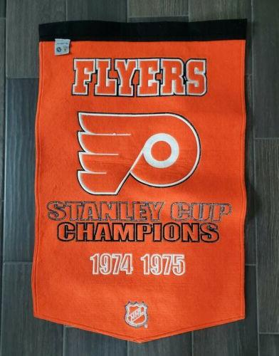 NHL Flyers 1974-1975 Stanley Cup Banner