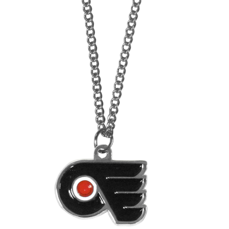 "Philadelphia Flyers 22"" Chain Necklace Metal Logo NHL Licens"