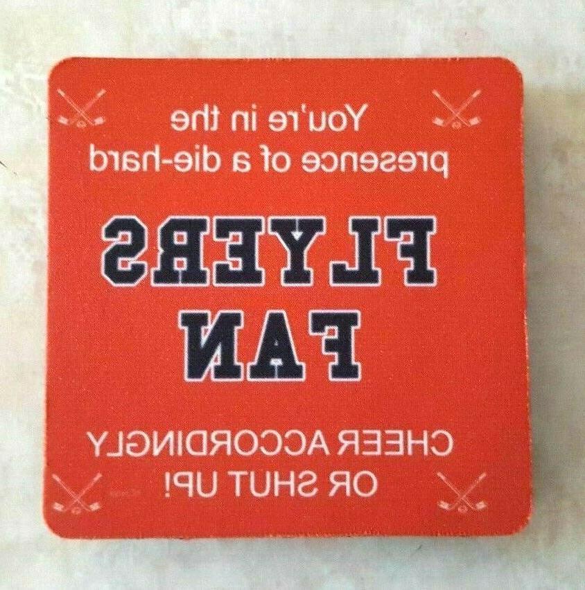 philadelphia flyers coasters set of 4 diehard