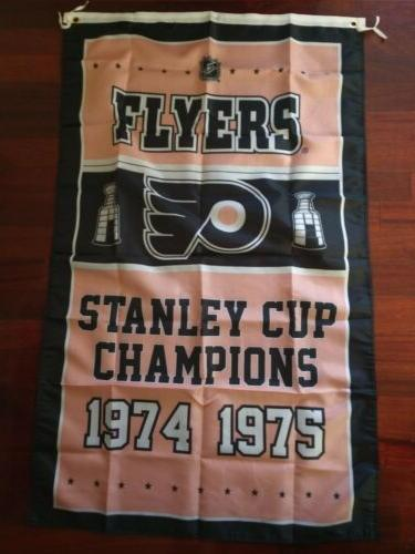 Philadelphia Flyers Cup Champions Flag 3ft x Polyester