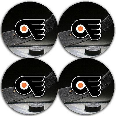 philadelphia flyers hockey rubber round coaster set