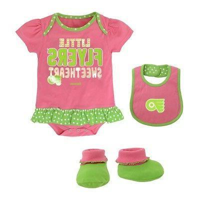 philadelphia flyers nhl reebok infant pink little