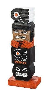 "Philadelphia Flyers Tiki Totem Pole 16"" Resin Garden Statue"