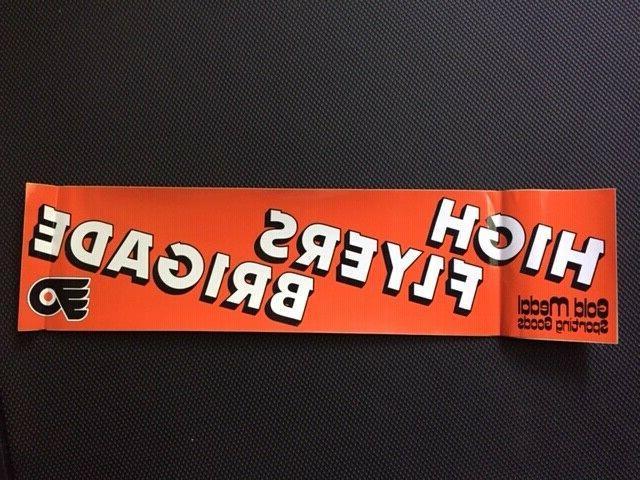 philadelphia flyers vintage bumper sticker decal brigade
