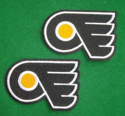 LOTS 2pcs Philadelphia Flyers  Iron On Embroidered Badge Pat
