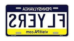 Metal Vanity License Plate Tag Cover - Philadelphia Flyers -