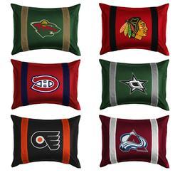 NHL HOCKEY TEAM PILLOW SHAM - Sport League Team Logo Cover B