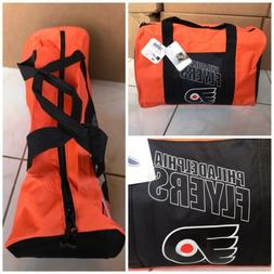 New! NHL Philadelphia Flyers duffle gym bag in orange and bl