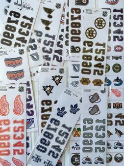 NHL Hockey Helmet Decal Sticker - Choose Your Team