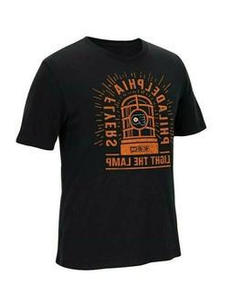 NHL Mens Philadelphia Flyers Short Sleeve T-Shirt Light the