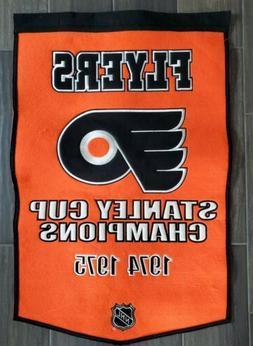 NHL Philadelphia Flyers 1974-1975 Stanley Cup Banner