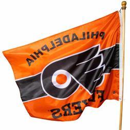 """NHL PHILADELPHIA FLYERS FLAG 36"""" x 47"""" INDOOR / OUTDOOR NEW"""