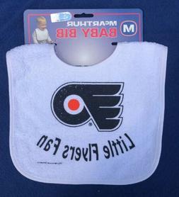 nhl philadelphia flyers hockey baby bib new