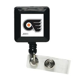 NHL Philadelphia Flyers Retractable Badge Holder, Black