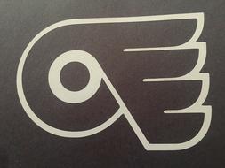 NHL PHILADELPHIA FLYERS WHITE VINYL STICKER / DECAL