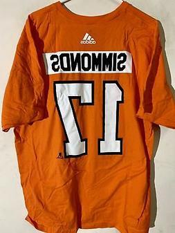 adidas  NHL T-Shirt Philadelphia Flyers Simmonds Orange sz X