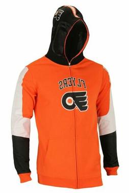 NHL Youth Philadelphia Flyers Full Zip Helmet Masked Hoodie,