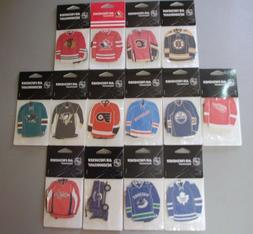 pack of 3 nhl jersey air fresheners
