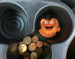 pair philadelphia flyers mascot gritty car coaster