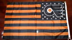 Philadelphia Flyers 3x5 American Flag. US seller. Free shipp