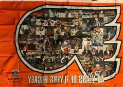 "Philadelphia Flyers 40th Anniversary Banner NIP SGA 56""x36"