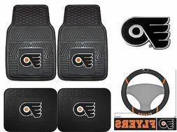Philadelphia Flyers Car Truck Floor Mats Steering Wheel Cove