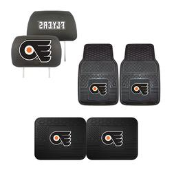 Philadelphia Flyers Car Truck Front Rear Floor Mats Set & He