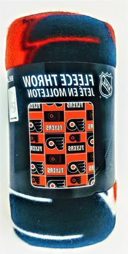 Philadelphia  Flyers Fleece Throw Blanket Orange Black 40 x