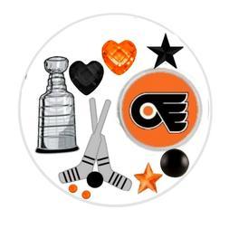 Philadelphia Flyers Floating Locket Charms and Birthstones
