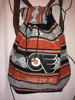 Philadelphia Flyers Handmade Backpack Orange Indian Style Co