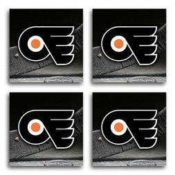 Philadelphia Flyers Hockey Rubber Square Coaster set  SRC208