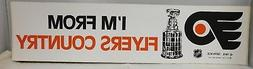 "Philadelphia Flyers ""I'm From Flyers Country"" 1970's Origina"