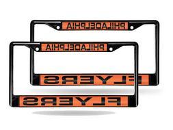 Philadelphia Flyers Laser Black License Plate Frame