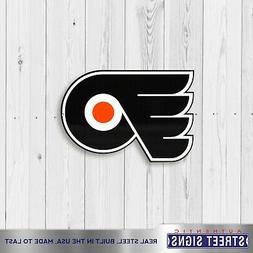 Philadelphia Flyers Laser Cut Steel Logo Spirit Size PR Auth