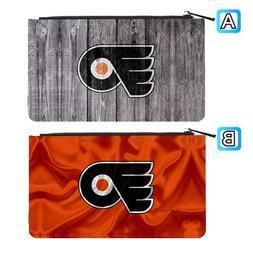 Philadelphia Flyers Leather Pen Pencil Case Makeup Bag Pouch
