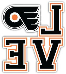 Philadelphia Flyers Love NHL Sport Car Bumper Sticker Decal