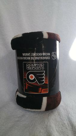 "Philadelphia Flyers Micro Raschel Throw Blanket 50""x60"" NHL"
