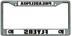 Philadelphia Flyers New Design Chrome Frame Metal License Pl