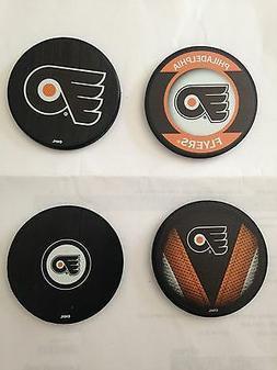 philadelphia flyers new hockey puck coaster set