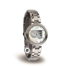 Philadelphia Flyers NHL Charm Watch with Stainless Steel Ban