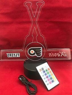 Philadelphia Flyers NHL Hockey Light Up Light Lamp LED With