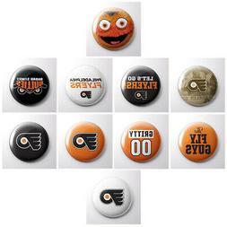 PHILADELPHIA FLYERS - NHL hockey pinback buttons - Gritty sp