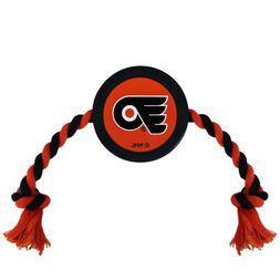 Philadelphia Flyers NHL Pets First Pet Hockey Puck Dog Rope