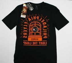 Philadelphia Flyers NHL T-Shirt Black Small Light The Lamp C