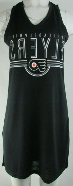 Philadelphia Flyers NHL Women's Black Neck Tie Sleeveless Dr