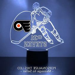 Philadelphia Flyers Night Light Personalized FREE NHL Hockey